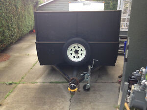 UTILITY TRAILER 5X10 WITH REMOVABLE RAMP DOOR