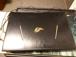 Asus Gaming Laptop w/ VR headset and mouse