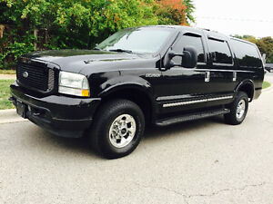 2003 FORD EXCURSION EDDIE BOWER 4X4 DIESEL, TOP OF THE LINE, DVD