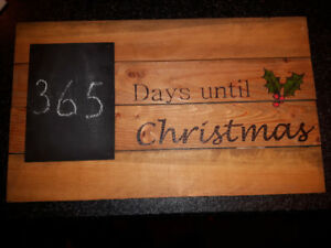 Christmas Wood Burning Sign Art - Hand Crafted