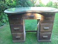 Wooden kidney shaped dressing table (good for painting) £10