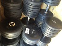 Pulse Fitness 22 rubber dumbbells