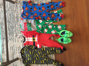 Pajama's size 2T and slippers size 7/8