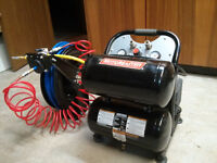 5 gallon Motomastert compressor with 5ft hose and reel