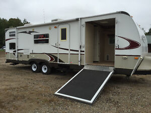 TOY HAULER OUTBACK TRAVEL TRAILER with upgrades!
