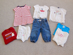 Lot of Girl Clothing /Lot de vêtements pour fille - 12 to 18 m