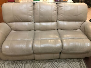 Leather Recliner Sofa, Loveseat, and Chair