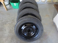 205 55 16 set of winter tire on rims(HAKKAPELIITTA) 5 x 112