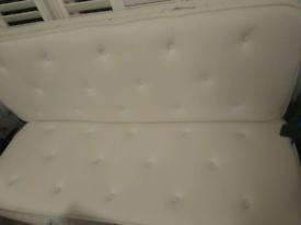 Second hand king size mattress Warren Evans natural organic 2000