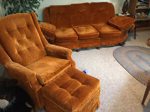 Antique couch, chair and ottoman - great condition