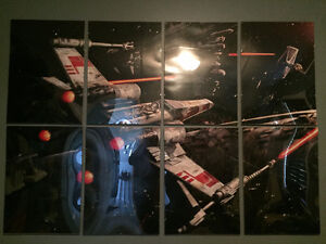 Poster / cadre Star wars x-wing fighter en 8 sections
