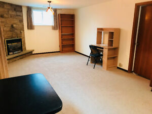 One-Bedroom Separate Entrance Bachelor Basement $1000
