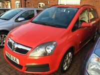 Vauxhall zafira 1.6 great 7 seater 2007(56)Full mot
