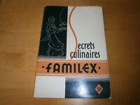 Livre de recettes ''Familex'' (1939)