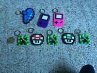 Perler bead magnets/keychains/decorations