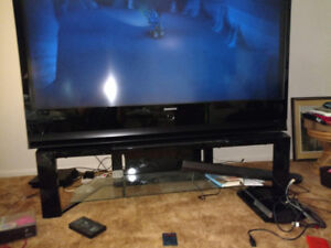"""72"""" Samsung DLP TV with stand"""