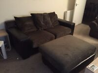 3 Seater Sofa with Foot Stool and 2 Seater Sofa