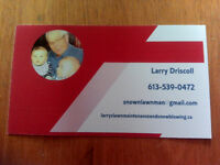 larry's lawn maintenance and snow blowing