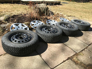 "15"" Firestone Snow Tires, Steel Rims, Covers (Hyundai Elantra)"