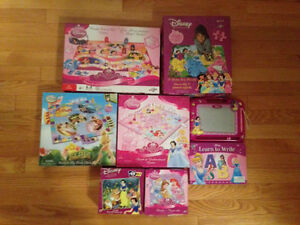 Disney Princess - 3 Puzzles, 3 Games & Learn to Write & more
