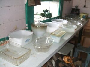 Table load of bowls for sale