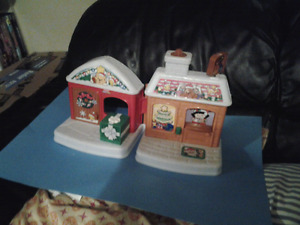 Fisher Price Little People  Christmas House &Disney House