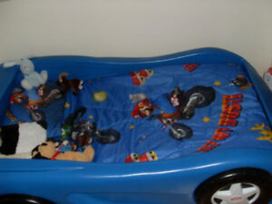 Blue Twin Size Car Bed