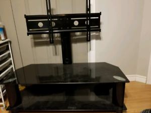 Temper glass tv stand