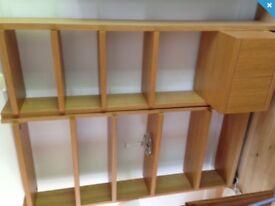Habitat Eton shelves and cupboard