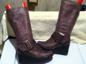Women's Faith Leather Tall Boots Size 6.5 London Ontario image 1