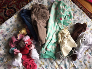 Lot of baby girl clothing, 0-3mo