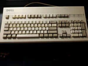 Old Dell mechanical keyboard with black alps switches