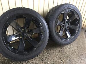 """22"""" Black Chevrolet Silverado Factory Wheels & Tires"""