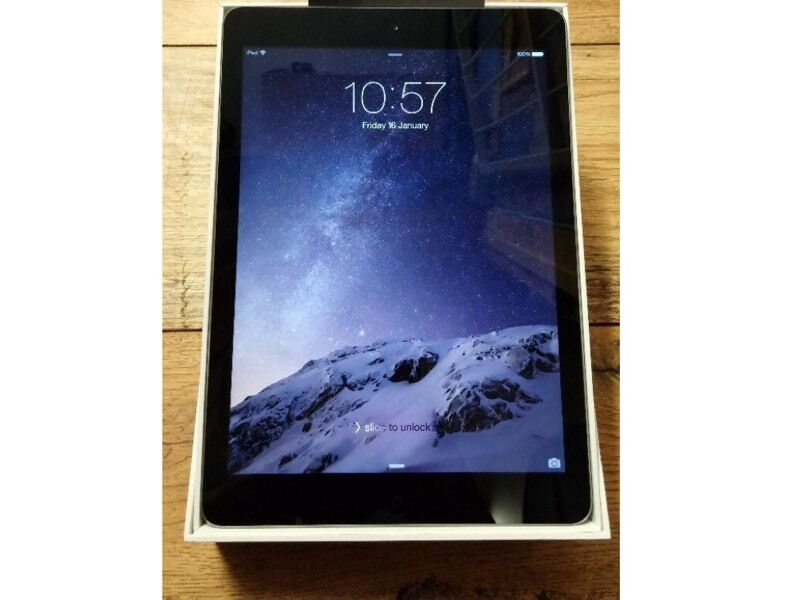 IPAD AIR 128GB CELLULAR (SIMCARD UNLOCKED TO ALL NETWORKWIFI SPACE GREY, WITH SMART COVERin Leicester, LeicestershireGumtree - IPAD AIR 128GB CELLULAR (SIMCARD UNLOCKED TO ALL NETWORK ) WIFI SPACE GREY, WITH SMART COVER As good as new with original box ,charger and USB cable and case from day one have had this iPad in a case with a screen protector,as new no scratches or no...