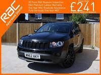2012 Jeep Compass 2.4 Black Edition Auto 4x4 4WD Bluetooth Full Leather Heated S