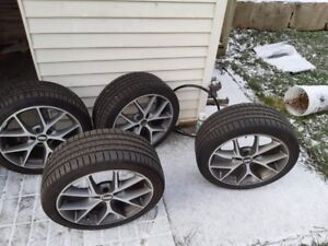 Michelin Pilot Sport tires 235/40/18 on bbs rims