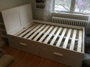 IKEA Brimnes Queen Bed with Storage