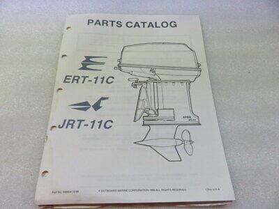 PM64 1987 OMC Evinrude ERT-11C JRT-11C Models Parts Catalog Manual P/N 398854