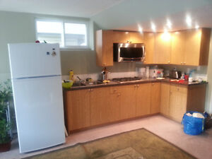 Large one bedroom basement suite with walk-out