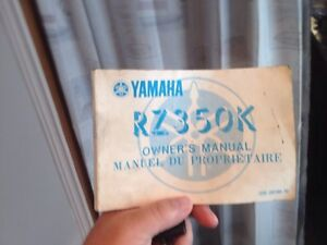 RZ 350 Yamaha  manual and left side cover