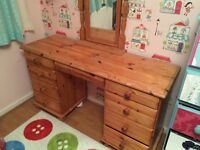 Pine Girls dressing table