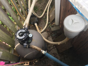 3/4 HP Pool pump and Hayward Pro Series Sand Filter