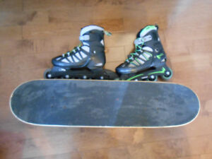 InLine Skates and Skateboard Combo!