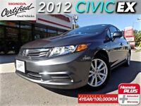 2012 Honda Civic EX (1) owner with extended warranty.