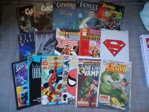 Comic lot, Batman, Spider-Man, Superman, and more.