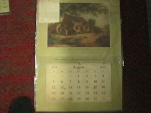 "1956  Vintage Calendar  23""  by 16"""