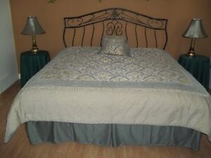 King Size Bedspread ,Bed Skirt ,Lamps