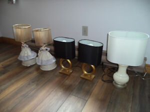 ►  ASSORTED BEDROOM TABLE LAMPS