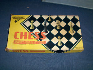 VINTAGE SPEARS CHESS BOARD GAME-1970'S-UNIQUE & COLLECTIBLE