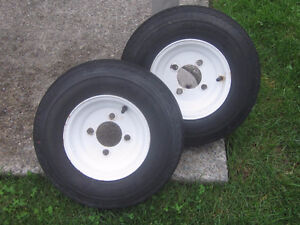2 roues pneus remorque 8 pouces